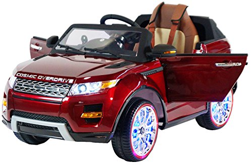 Range Rover Style Premium Ride On Electric Toy Car For Kids - 12V Battery Powered - LED Lights - MP3 - RC Parental Remote Controller - Leather Seat - Suitable For Boys & Girls - Real Paint - Red