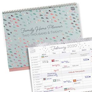 Boxclever Press Family Home Planner 2020 Wall Calendar. The Ideal Family Planner Calendar 2020! Month-to-View Family Organiser with 6 Columns. 2020 Calendar Runs Until December '20. 51TomHaZ2UL