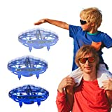 Hand Operated Drone with 720° Rotating for Kids, WEW Outdoor Hands Free Toys, Mini Drone Helicopter, Flying Ball Drone Toys for Boys Girls Teenagers - Blue