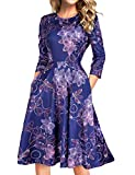 MARI CIAS Ladies Elegant Evening Dress Holiday Dresses for Women (M, Floral3)