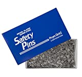 Dritz 512100 #2 Steel Safety Pins with Nickel Finish, 1-1/2' (1,440-Pack)