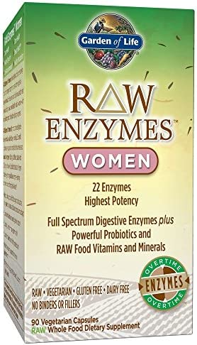 Garden of Life Vegetarian Digestive Supplement for Women - Raw Enzymes for Digestion, Bloating, Gas, and IBS, 90 Capsules 3