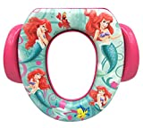 Ginsey Potty Seat - Padded, Soft, and Durable - For Regular and Elongated Toilets - Removable Cushion for Easy Cleaning - Firm Grip Handles - The Little Mermaid