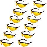 AmazonBasics Blue Light Blocking Safety Glasses Eye Protection, Anti-Fog, Orange Lens, 12-Count