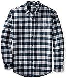 Amazon Essentials Men's Regular-Fit Long-Sleeve Plaid Flannel Shirt, Navy Plaid, X-Large