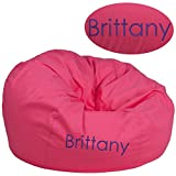 Flash Furniture Personalized Oversized Solid Hot Pink Bean Bag Chair