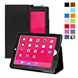 Snugg Apple iPad 2 Case - Leather Smart Cover (Black) with Kick Stand