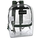 Clear Backpack With Reinforced Straps For Security, Sporting Events (Green)