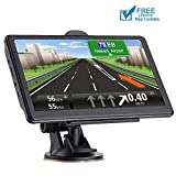 GPS Navigation for car 7 Inch HD Voice Broadcast Frontline Loading North America Map Contains (United States Canada Mexico Map) Lifetime Map Free Update