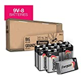 9V Batteries Energizer MAX Premium Alkaline 9 Volt Battery for smoke alarms, smoke detectors and other devices, 8 Count (Packaging May Vary)