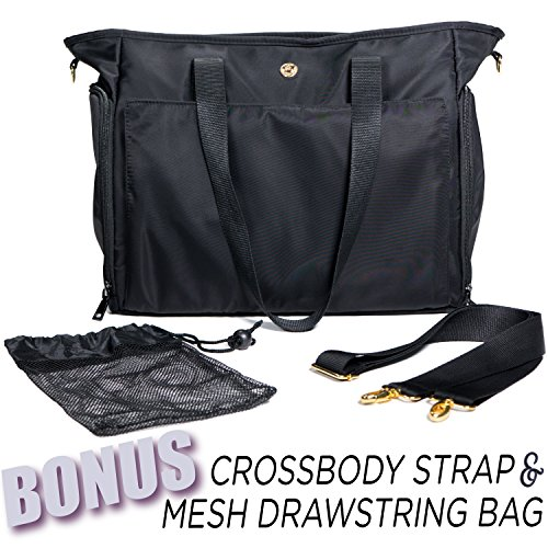 Zohzo Lauren Breast Pump Bag - Portable Tote Bag Great for Travel or Storage – Includes Padded Laptop Sleeve - Fits Most Major Pumps Including Medela and Spectra... 2 Fashion Online Shop gifts for her gifts for him womens full figure