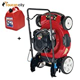 Toucan City Toro Recycler 22' SmartStow Briggs and Stratton High Wheel Gas Walk Behind Push Mower 21329 and Gas Can
