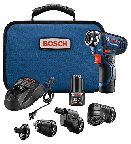 Bosch Power Tools Combo Kit - GSR12V-140FCB22 - 12V Flexiclick 5-In-1 Multi-Head Drill Set – One Tool Multiple Jobs