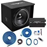 Skar Audio Single 18' Complete 1,200 Watt SDR Series Subwoofer Bass Package - Includes Loaded Enclosure with Amplifier