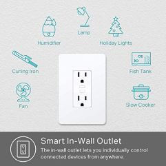 Kasa-Smart-KP200-Plug-by-TP-Link-In-Wall-Smart-Home-Wi-Fi-Outlet-Works-with-Alexa-Echo-Google-Home-IFTTT-No-Hub-Required-Remote-Control-UL-Certified