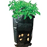 "Huouo 14"" x 20"" Potato Grow Bags Garden Vegetables Planter with Access Flap for Harvesting (1)"