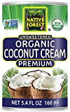 Native Forest Organic Premium Coconut Cream Unsweetened, 5.4 Ounce Cans (Pack of 12)