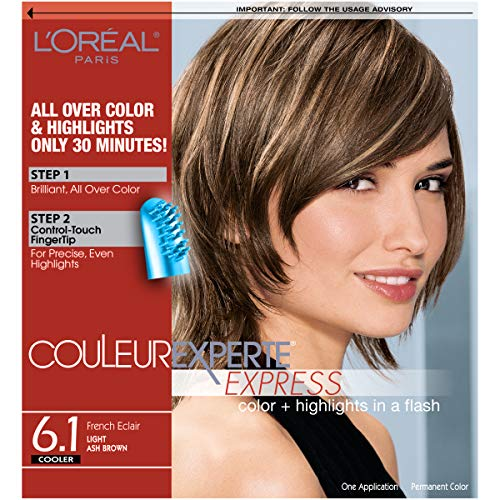 L'Oréal Paris Couleur Experte Hair Color + Hair Highlights, Light Ash Brown - French Eclair