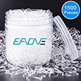 EAONE 1500 Pieces Clear Elastic Hair Bands, Rubber Hair Ties Packaged in Box for Girls