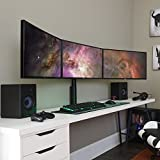 ECHOGEAR Triple Monitor Desk Mount Stand for Screens Up to 27' - Height-Adjustable for Comfortable Gaming & Work - Works with 3 Vertical Or Horizontal Monitors - Perfect for Array-Style Gaming