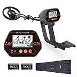 "Metal Detector, 3 Modes Adjustable Waterproof Detectors (24""-45"") with Larger Back-lit LCD Display, 3 Audio Tone & DISC Mode - Carrying Bag and Batteries Included, Easy to Operate for Adults and Kids"