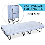 Milliard Lightweight Folding Bed with Mattress – Cot Size -74 by 31-Inches