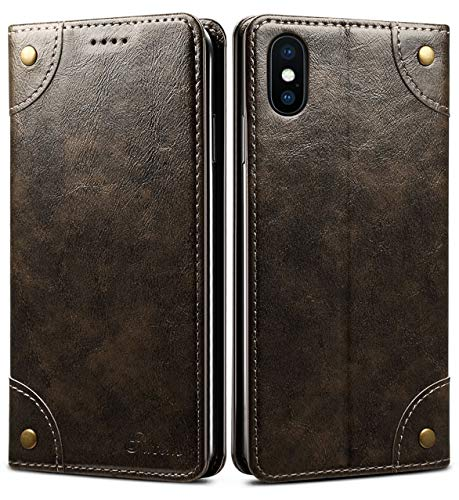 iPhone 8 Plus Case, iPhone 7 Plus Case, SINIANL Leather Wallet Folio Case Magnetic Closure Flip Cover with Stand and Credit Card Slot for iPhone 8 Plus / 7 Plus