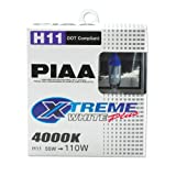 PIAA 15211 H11 Xtreme White Plus High Performance Halogen Bulb, (Pack of 2)