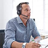 Leitner LH270 Single-Ear Wireless Telephone Headset - 5-Year Warranty - Works with Cisco, Polycom, Yealink, Avaya, Softphones, VoIP, Skype, Zoom, and 99% of Office Phone Brands