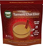Golden Goddess Turmeric Chai: Ultimate Delicious Golden Milk, Award-Winning Weight Loss Drink + Stress Relief + Cortisol Manager + Herbal Adrenal Support with Clinically Proven KSM-66 Ashwagandha