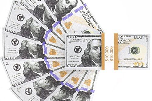 Realistic Double Sided Prop Money Set Of 100 100 Dollar