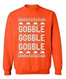 Awkwardstyles Gobble Gobble Gobble Crewneck Thanksgiving Holliday Sweatshirt L Orange