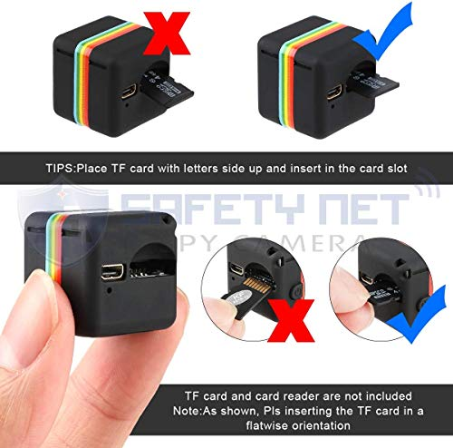 51UPyCnAh7L Safety Net SQ11 1080P Full HD Hidden Smallest Mini Spy Camera | Night Vision Hidden Cam | 1920 x 1080p | Full HD Audio and Video Recording