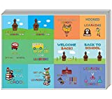 Creanoso Back to School Stickers for Kids (10-Sheet) - Inspiring Words for Young Schoolers Sticker Collection Set - Teacher Rewards and Classroom Incentive Ideas for Boys, Girls - Awesome Sticker Pack
