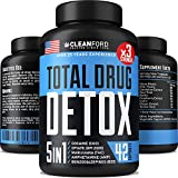 THC Detox 5-in-ONE - Premium Drug Cleanse & Toxins Remove - Natural Drug Detox Pills - Best THC Cleanse to Pass Drug Test - Kidney, Urinary Tract & Liver Detox Cleanse - Made in USA - 7-Days Detox