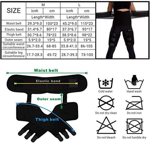 DAWNDEW Waist Trainer for Women, 3-in-1 Waist and Thigh Trimmer Butt Lifter-Weight Loss Slimming Body Shaper Belt, Adjustable Hip Enhancer, Hips Belt Trimmer Body Shaper Workout Fitness Training 9