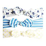 NUWFOR 3Pcs Kids Floral Headband Hair Girls Baby Bowknot AccessoriesHairband Set Multicolor
