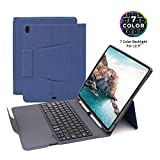 iPad Pro 12.9 Keyboard Case (Only fit 2018), iPad 12.9 Keyboard Case with Pencil Holder &7 Colors Backlit, Keyboard Case Fit for iPad Pro 12.9 2018 (3rd Generation) A1876/A2014/A1895/A1983, Blue