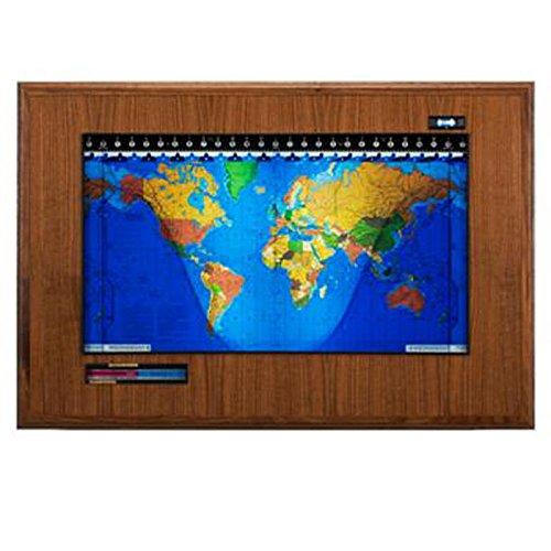 Geochron Boardroom Luxury World Clock With Lithograph Map - Luxury