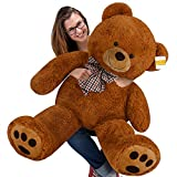 cucunu Giant Teddy Bear Brown XXL - 55 Inches Stuffed Animal - Plush Toy
