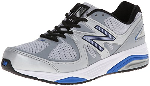New Balance Men's M1540V2 Running Shoe, Silver/Blue, 11.5 2E US