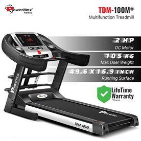 PowerMax-Fitness-TDM-100M-20HP-Motorized-Foldable-Electric-Treadmill-FREE-INSTALLATIONLED-Display-BMI-Spring-ResistanceRunning-Machine-for-Max-Pro-Workout-by-Walk-Run-Jog-at-Home