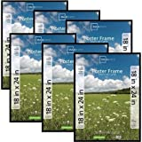 Classic Styles Mainstays Decor 18x24 Basic Poster & Picture Frame, Black, Set of 6 by Mainstays Decor