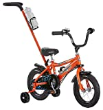 Schwinn Grit Steerable Boy's Bicycle With Training Wheels, 12-Inch Wheels, Orange
