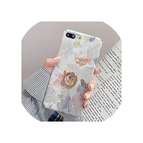 Alicesks-Cases Ring Grip Case For iPhone X 11 Pro MAX Case For iPhone XR XS MAX 7 8 6 6s Plus Plants...