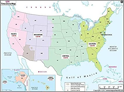 United States Map Florida.Beaches Time Zone Map Usa Florida