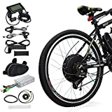Voilamart 26' Rear Wheel Electric Bicycle Conversion Kit, 48V 1000W E-Bike Motor Kit with LCD Display, Intelligent Controller and PAS System, 750W Power Limited for Road Bike