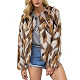 Product review for Comeon Womens Winter Warm Colorful Faux Fur Coat Chic Jacket Cardigan Outerwear Tops for Party Club Cocktail