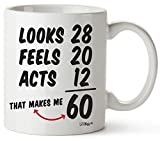 60th Birthday Gifts For Women Sixty Years Old Men Gift Mug Happy Funny 60 Mens Womens Womans Wifes Female Man Best Friend 1959 Mugs Male Unique Ideas 59 Woman Wife Gag Dad Cute Girls Guys Good Husband