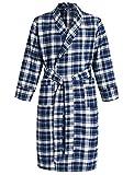 Latuza Men's Cotton Flannel Robe S Blue